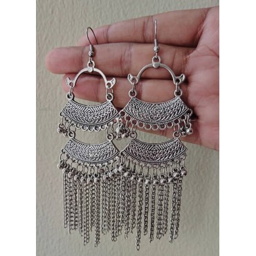 AD113 Silver Earing