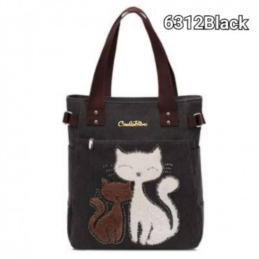 Carlorino Meow Canvas bag