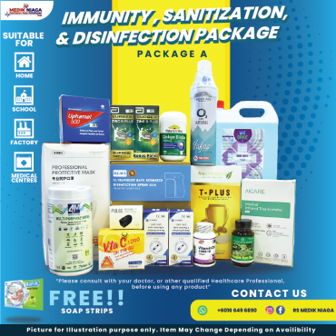 Immunity, Sanitization & Disinfection Package A