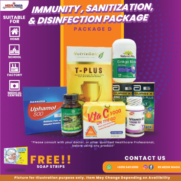 Immunity, Sanitization & Disinfection Package D