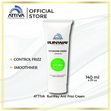 ATTIVA Runway Anti Frizz Cream 140ML Krim Rambut Kering, Keriting,  Smoothens Frizzy Hair,  Leave In Conditioner