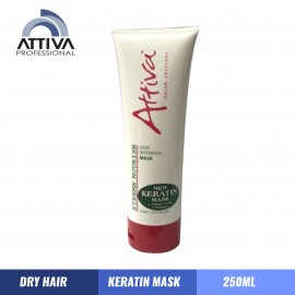 ATTIVA Keratin Mask  Treatment for Dry Hair 250ML,Perawatan Rambut Kering best,Rambut Tiada Kusut, add softness , shine